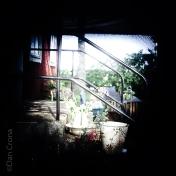 På trappen