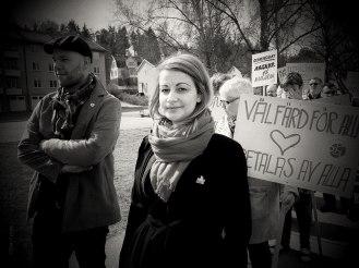 Årets 1:a Maj talare i Gnesta, Sara Karlsson