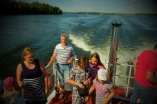 Båtresan över till ön