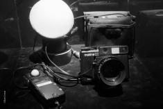 """""""Tunis"""" kamera, ljusmätare o blixt"""